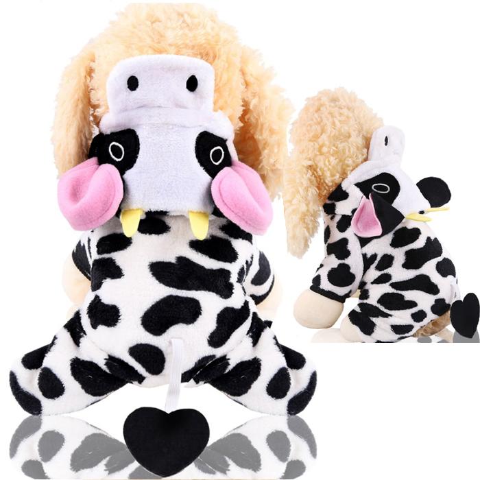 キュートに決まるコスチュームでウシさんに大変身 牛柄 牛 2021年 お買得 丑年 正月 ハロウィン コスプレ 冬 ボア 仮装 ダックス 至高 送料無料 服 ドッグウェア 犬 フリース トイプードル 犬服 猫 チワワ