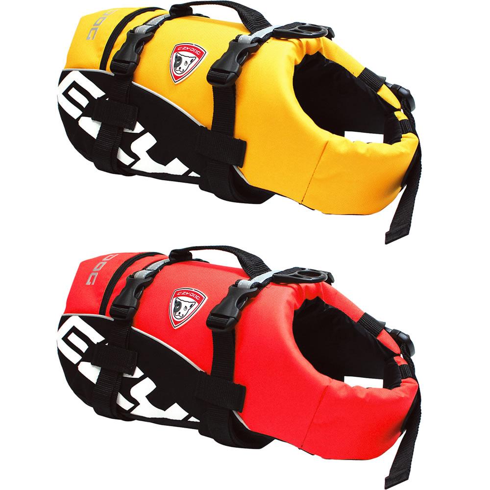 EZYDOG DFDスタンダード XL (イエロー、レッド) 【イージードッグ/DOG FLOTATION DEVICE/フローティングジャケット】