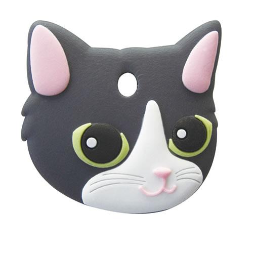 お気にいる 3 980円で送料無料 沖縄県は9 800円以上で送料無料 正規品 おすすめ ペットキーカバー メール便配送可能 猫 白黒 ワールド商事