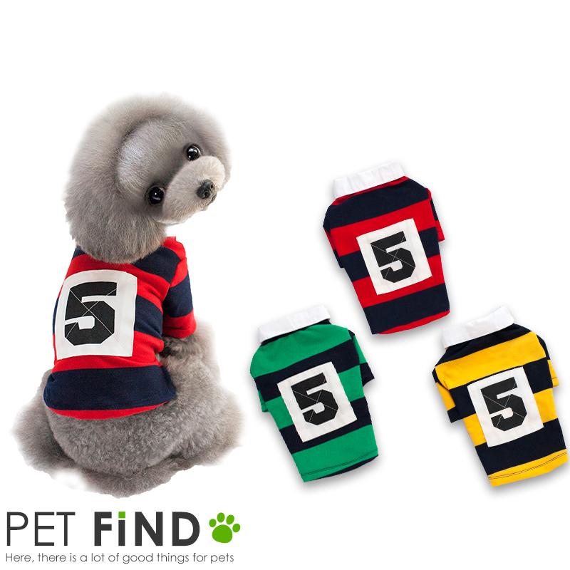 犬服 ブランド 犬用 犬 服 犬の服 ペット服 ドッグウェア おしゃれ かわいい わんちゃん ラグビー PETFiND PET dog 小型犬 ドック 綿100% 完売 全国どこでも送料無料 ボーダー FiND イヌ ラガーシャツ
