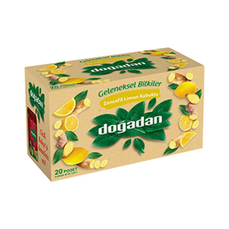 心も体も元気になる Dogadan ドアダン SALE開催中 ジンジャー レモン ティーバッグ トルコ産 ハーブティー 正規逆輸入品 ノンカフェイン