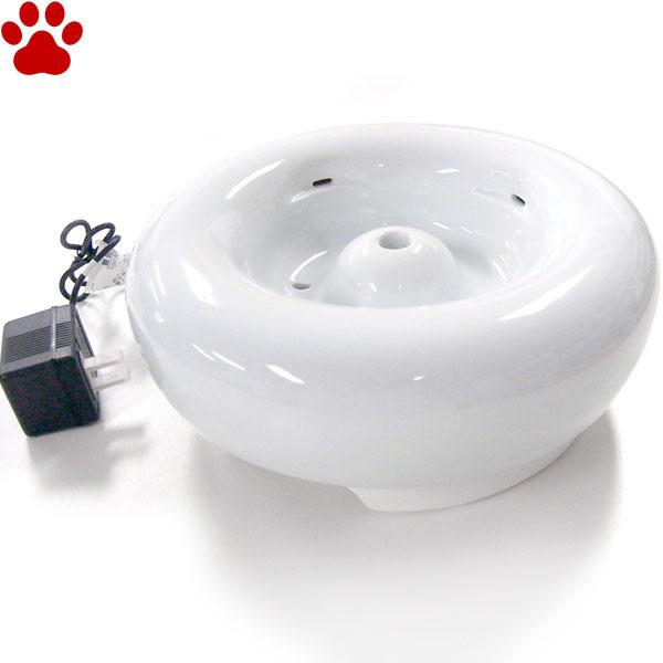【30】 ジェックス ピュアクリスタル セラミックス 犬用 1.5L 本体+軟水化フィルターPRO-H 1枚入り 水 循環 給水器 給水機 GEX CERAMICS