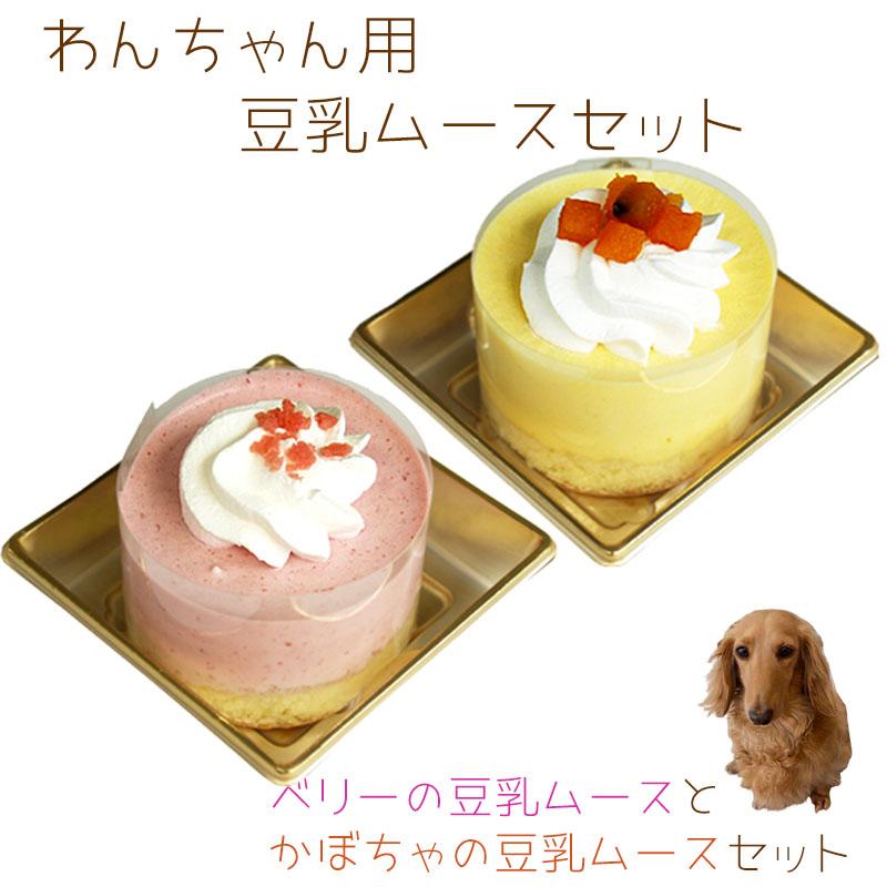 犬用ケーキ 誕生日ケーキ バースデーケーキ セット わんちゃんお誕生日ケーキセット 送料無料 高価値 特価品コーナー☆ ベリーの豆乳ムースとかぼちゃの豆乳ムースのセット ※一部地域除く