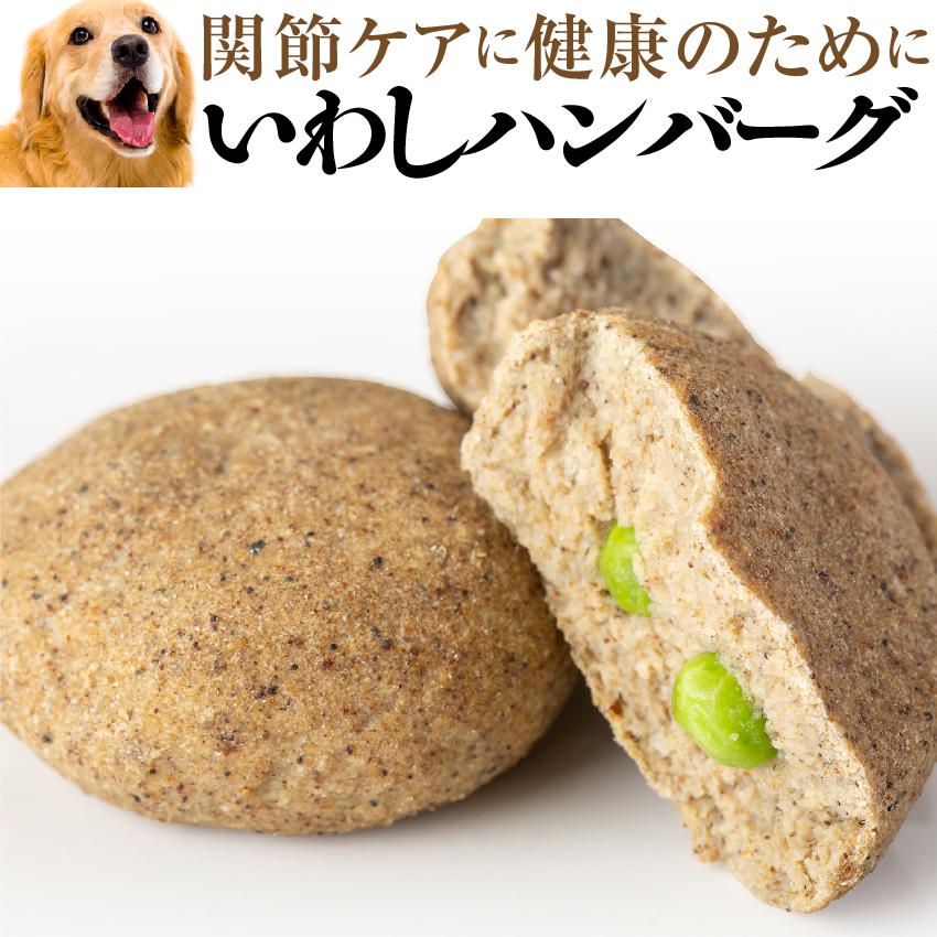 犬 手作りごはん ご飯 春の新作 オーガニック 低カロリー 有機 犬用 手作りご飯 魚 いわし 2個入 無添加 国産 冷凍 定番から日本未入荷 ハンバーグ