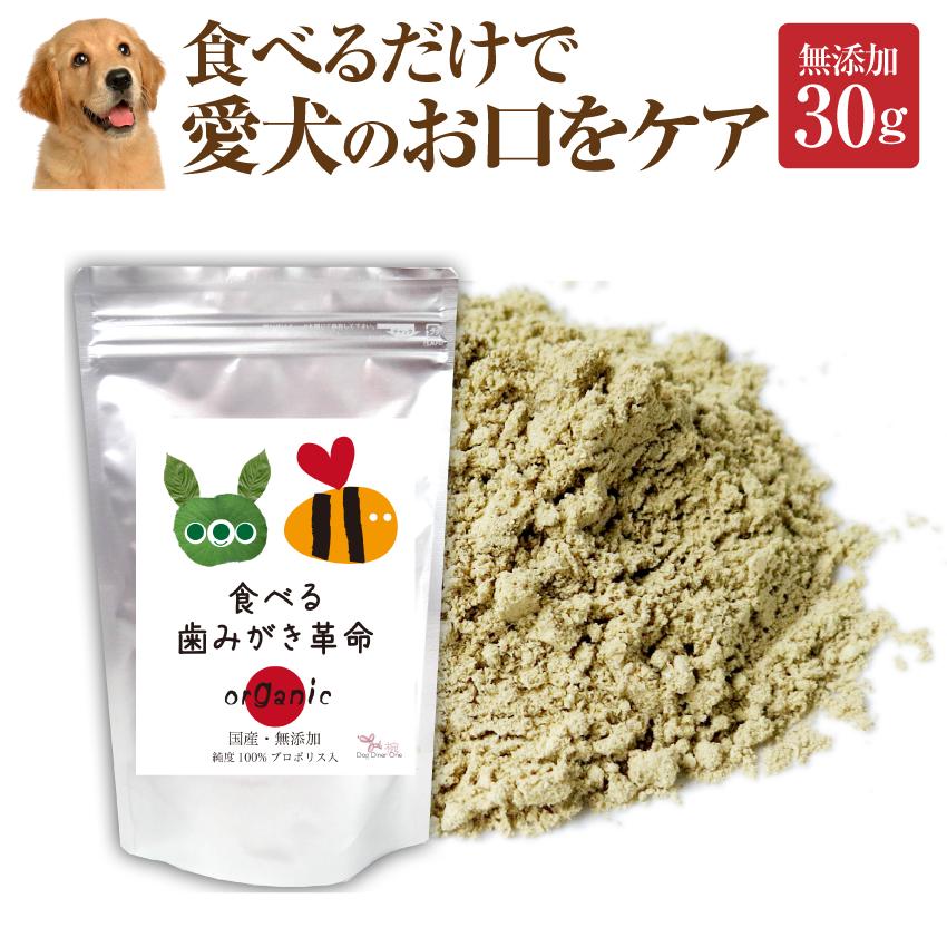犬 猫  歯石・ 歯垢 サプリ(食べる 歯磨き 革命 30g)無添加 【メール便 送料無料】