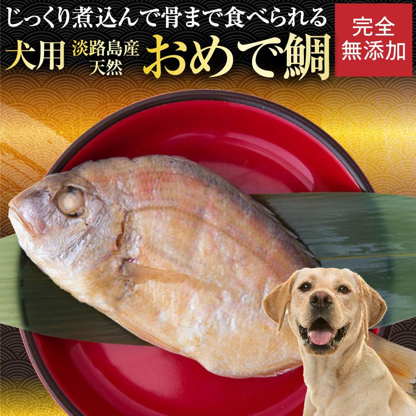 骨まで食べれる天然の鯛 犬・ペットのお節料理やお年玉として 2022 【先行予約】犬用 おせち(お頭付き鯛)2022 年 犬・無添加 おせち料理【真空パック 常温配送】
