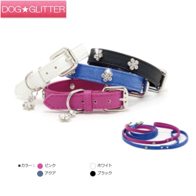 フラワー型のラインストーン 超歓迎された カラー 犬の首輪 azeria サイズ:M アゼリア ダイヤモンドフラワーカラー 割り引き