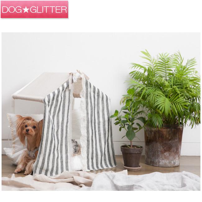 ルイスドッグ Louisdog Peekaboo/Linen Stripes サイズ:Grand