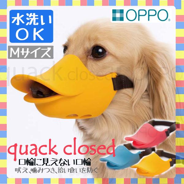 【B】OPPO quack closed Mサイズ 口輪 OT-668-021-2くちばし型 犬のしつけ 無駄吠え 噛みつき シリコン くちばし型無駄吠え くちばし型シリコン 犬のしつけ無駄吠え 無駄吠えくちばし型 株式会社テラモト ルビー・ブルー・オレンジ【TC】