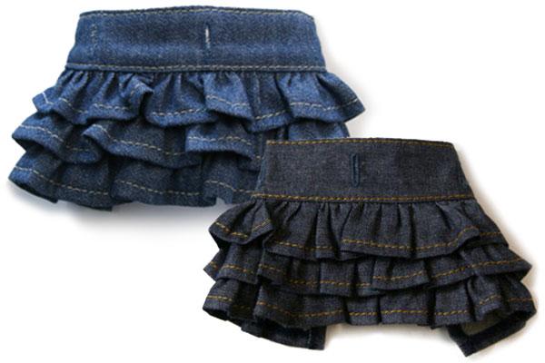 春の新作 贈与 デニムギャザースカート マッチングスタイル対応