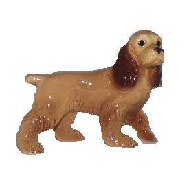 陶器製の小さな犬の置物 Hagen-Renaker コッカースパニエル パパ ドッグコレクション 2020 お買い得品 オーナーグッズ 可愛い 愛犬ギフト 犬置物