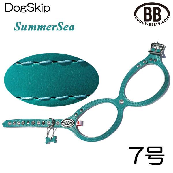 バディーベルト ハーネス 7号 サマーシー SummerSeea 中型犬 ペット レザー 本革 BUDDYBELT バディーベルト 犬用 胴輪 リングハーネス メガネ型 ボディベルト
