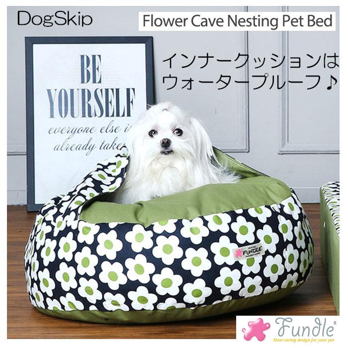 犬用 猫用 ファンドルベッド カドラー レトロフラワーサークルベッド FUNDLE Flower Cave Nesting Pet Bed 小型犬