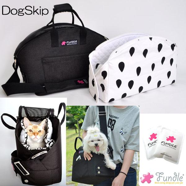 犬用 猫用 ファンドルバスケットラグキャリー ブラックデニム Lサイズ 小型犬 キャリーバッグ 保冷 送料無料 FUNDLE BASKET RUG CARRYBAG