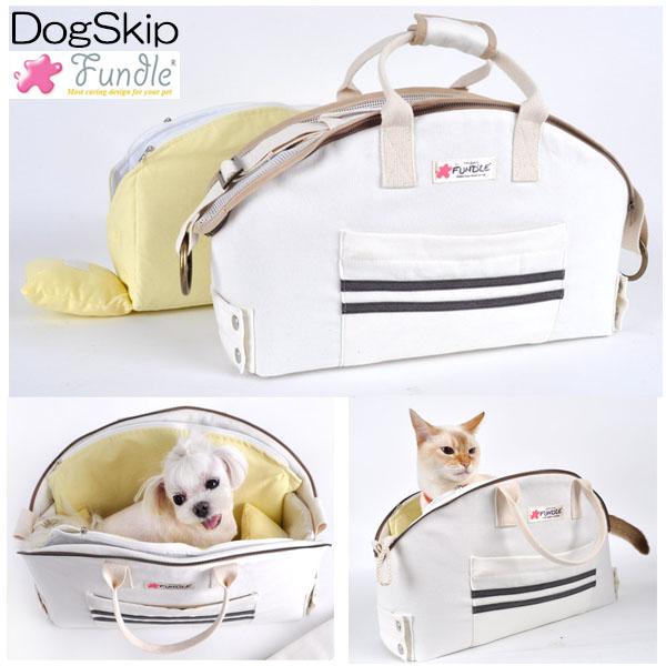 犬用 猫用 ファンドルバスケットラグキャリー ランニング アイボリー Sサイズ 小型犬 キャリーバッグ 保冷 FUNDLE BASKET RUG CARRYBAG Rurnning:犬服,ドッグウェア DogSkip