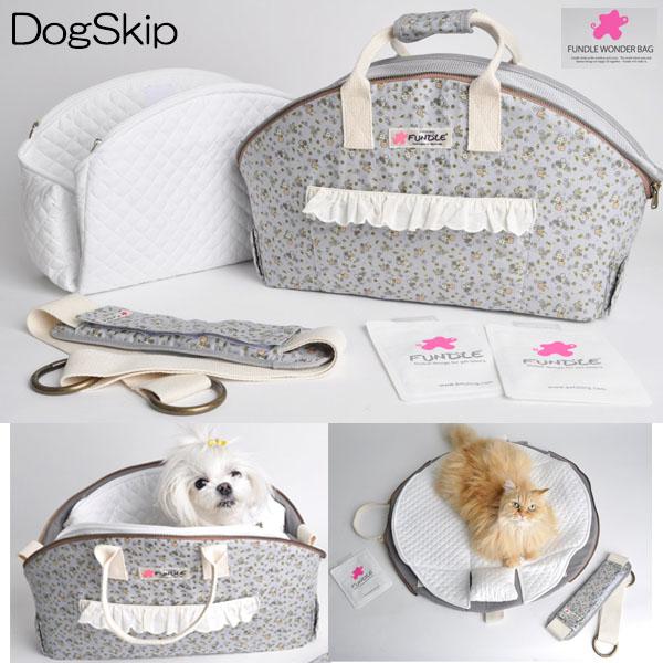 犬用 猫用 ファンドルバスケットラグキャリー サビーガーデン Lサイズ 小型犬 キャリーバッグ 保冷 FUNDLE BASKET RUG CARRYBAG
