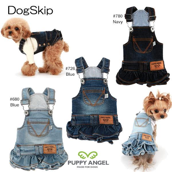 犬用 PAオキオデニムサスペンダーカンカンスカート Puppy Angel R 開催中 OHKIO TM Denim Suspenders cancan M ドッグウェア SM XLサイズ skirt:S ML 人気ブレゼント! L 洋服 パピーエンジェル