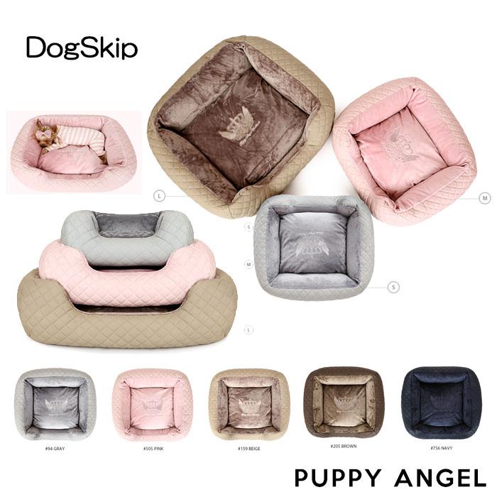 PAラブラグジュアリーキルティングベッドクッション Sサイズ パピーエンジェル PUPPYANGEL 犬 犬用 カドラー 送料無料