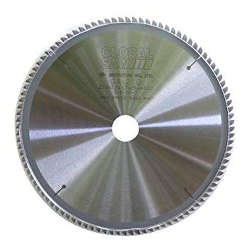 【モトユキ・グローバルソー】薄物アルミ・非金属用チップソー※《GA-210-100》外径210mm×100P・穴径25.4mm