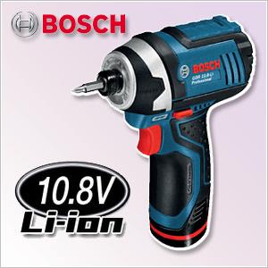 【ボッシュ】 インパクトドライバー 充電式 10.8V 《 GDR10.8_LI 》 ボッシュ コードレス バッテリーインパクトドライバー GDR10.8_LI BOSCH