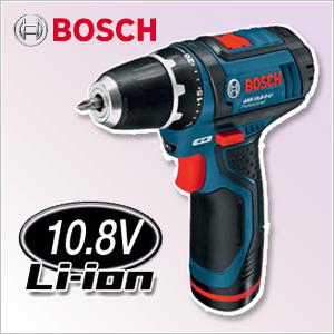 【ボッシュ】 ドライバードリル 充電式 10.8V 《 GSR10.8-2-LI 》セット品 ボッシュ コードレス ドライバードリル GSR10.8-2-LI BOSCH 送料無料