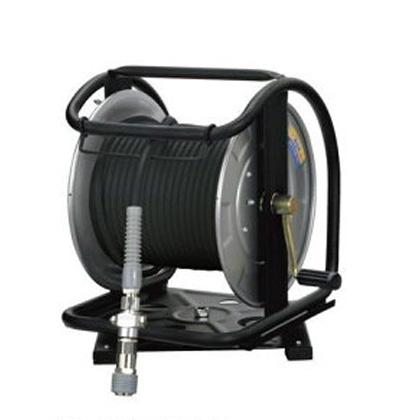 【フジマック】マッハ高圧エアホースドラム・スーパースムージー・回転台付スチール製エアーホースドラム《GHD-630TC》内径6.0mm×30m「エアーホース」
