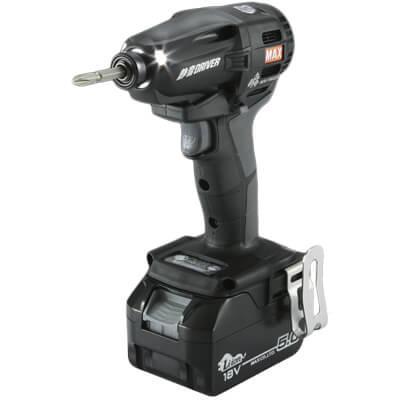 【ついに再販開始!】 マックス 限定カラー:道具屋 利作 PJ-SD102(ブラック)] 充電式静音インパクトドライバ [ 18V(5.0Ah)セット品-DIY・工具