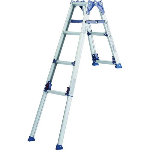 【代引不可】 ピカ 四脚アジャスト式兼用脚立『かるノビ』階段向け 《 SCL-23A 》