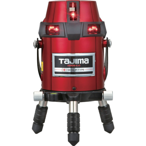 【タジマ No.01】墨出器 レーザー墨出し器ゼロセンサーKJC三脚セット 《 ZEROS-KJCSET 》フルラインレーザー 受光器・三脚付ZEROS-KJC Tajima