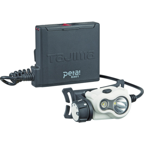 【タジマ】ペタLEDヘッドライトE301 《 LE-E301-W(ホワイト) 》LEDライト