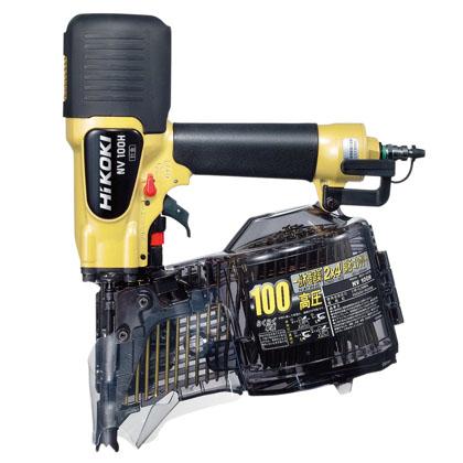 ハイコーキ(日立工機) 釘打機 100mm ロール釘打機 高圧 釘打機 《 NV100H 》 エア 釘打機 NV100H