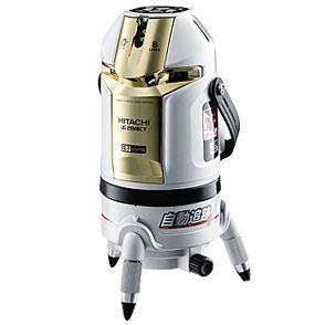 ハイコーキ(日立工機)レーザー墨出し器《UG25MBCY(J)》受光器付<垂直4本・水平全周(傾斜)・地墨点・鉛直・大矩・通り芯>
