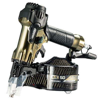 ハイコーキ(日立工機) 高圧ロール釘打機 [ NV50H2 ] カラー:ハイゴールド