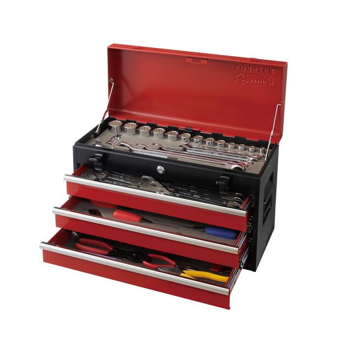 ロブテックス エビ 工具セット チェストタイプ 3段 セット入数59点 差込角12.7 1/2