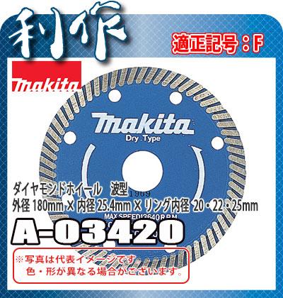 マキタ ダイヤモンドホイール 波型 [ A-03420 ] 外径180mm×内径25.4mm×リング内径×20・22・25mm / 適正記号F