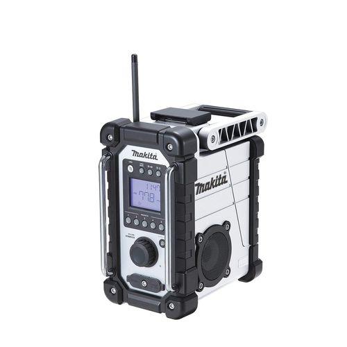 マキタ 充電式ラジオ [ MR107W ] 7.2~18V本体のみ(白) / (バッテリ、充電器なし)
