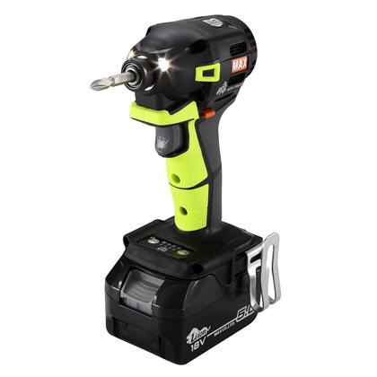 マックス 充電式インパクトドライバ 《 PJ-ID153VG-B2C/1850A 》 18V(5.0Ah)セット品(ビビットグリーン)限定色