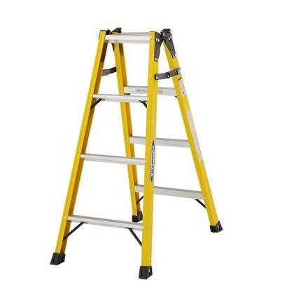 【法人名明記/代引不可】ピカ FRP製 はしご兼用脚立 《 FRP-SL12 》 4段(天板含む)