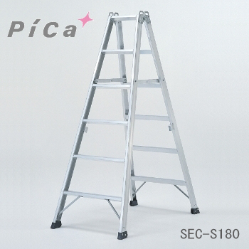 【代引不可】 ピカ 専用脚立 《 SEC-S180 》 6段(天板含)