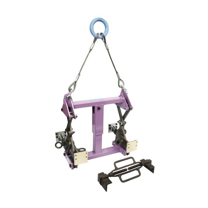スーパーツール | U字溝吊クランプオート内張型(パッド式) ワイヤーロープ・リング付 容量1000kg [ BUC1000A ] | SUPERTOOL