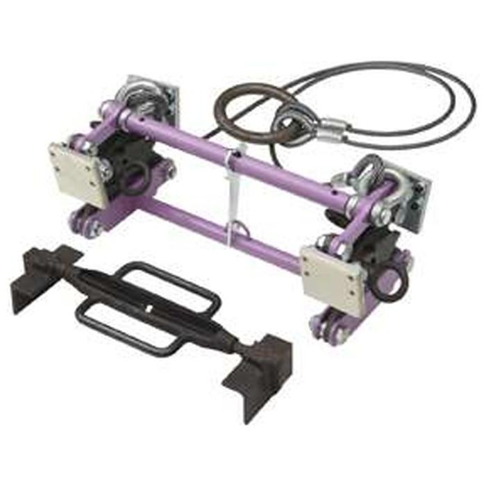 スーパーツール | U字溝吊クランプ内張型(パッド式) ワイヤーロープ・リング付 容量500kg [ BUC240N ] | SUPERTOOL
