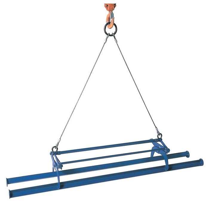スーパーツール | 間知ブロックマトメ吊(ワイヤーロープ・リング付) 容量500kg クランプ範囲60~270mm [ KBC500WH ] | SUPERTOOL