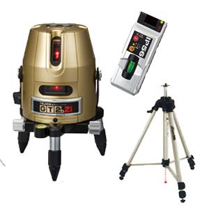 【タジマ No.01】GTシリーズ レーザー墨出し器《GT2BZ-ISET》縦・横・地墨ライン受光器・三脚セット