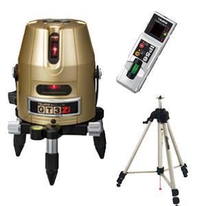 【タジマ No.01】GTシリーズ レーザー墨出し器《GT3Z-ISET》矩・横ライン受光器・三脚セット