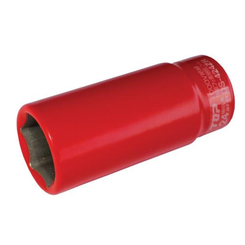 トップ工業 絶縁ディープソケット(差込角9.5mm) [ DS-324ZR ] 対辺寸法24mm