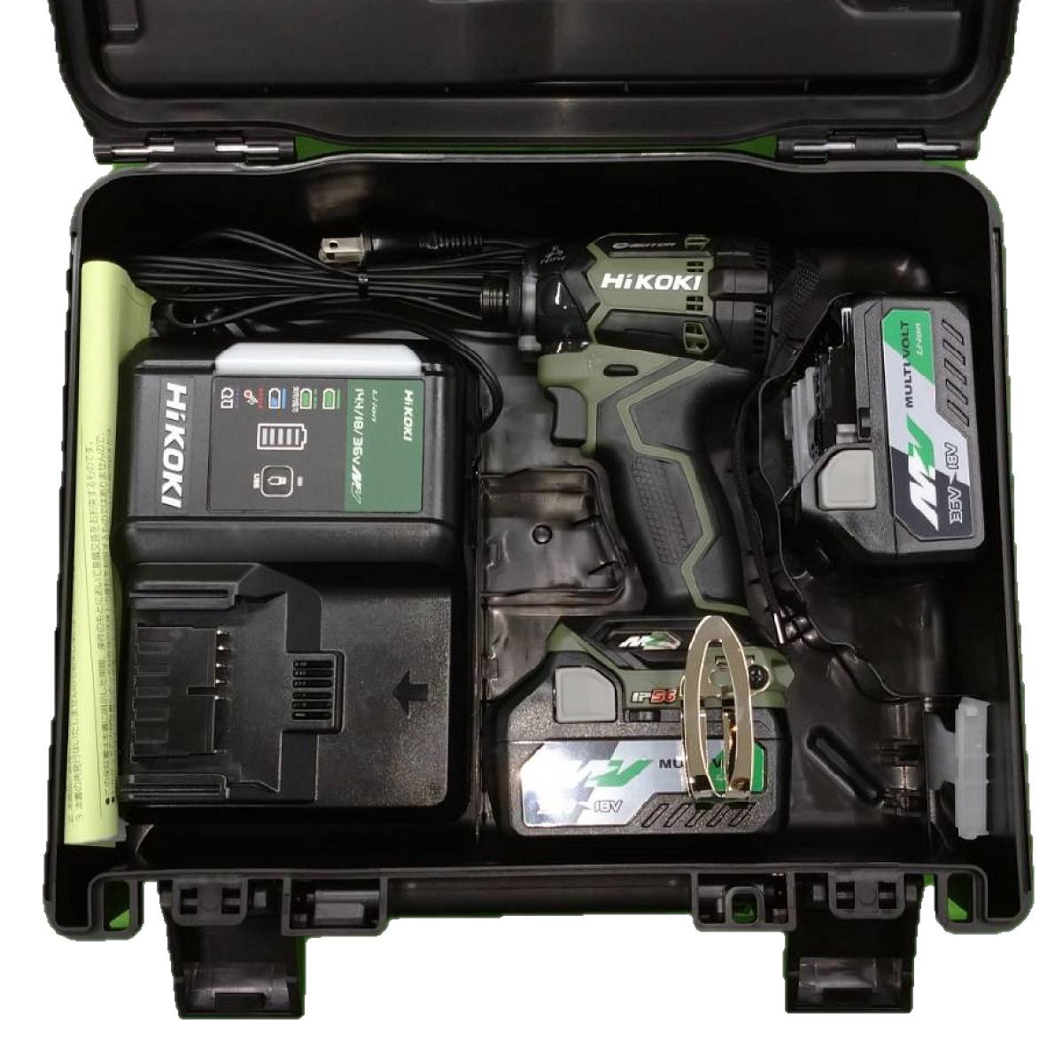 HiKOKIコードレスインパクトドライバ 36V WH36DC2XPGフォレストグリーンが入荷 在庫台数限定 HiKOKI ハイコーキ WH36DC 登場大人気アイテム 2XPG 日立工機 コードレスインパクトドライバ セット内容 急速充電器UC18YDL2 フォレストグリーン 新作製品 世界最高品質人気 36Vマルチボルト 約25分 ケース付 離島は別途送料が必要 BSL36A18×2個 ※沖縄