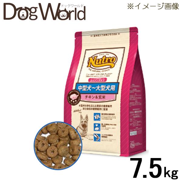 ニュートロ ナチュラルチョイス 中型犬~大型犬用 エイジングケア チキン&玄米 7.5kg