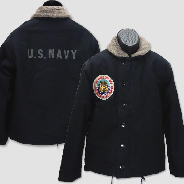 """バズ・リクソンズ BUZZ RICKSON'S ミリタリーTYPE N-1 NAVY""""NAVY DEPARTMENT DER 387 USS VANCE"""" BR14194"""