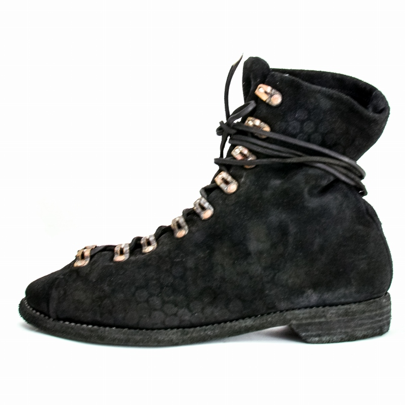 GUIDI グイディ 18AW ハイキングブーツ 205 CARF REVERS NEW HIKING,SOLE LEATHER  レザー 41 LINED/BLKT 黒 ブーツ新品未使用