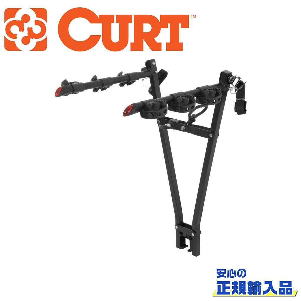 【CURT(カート)正規代理店】クランプオン バイクラックレシーバーサイズ 2インチ 3台まで(最大61.29kg)汎用